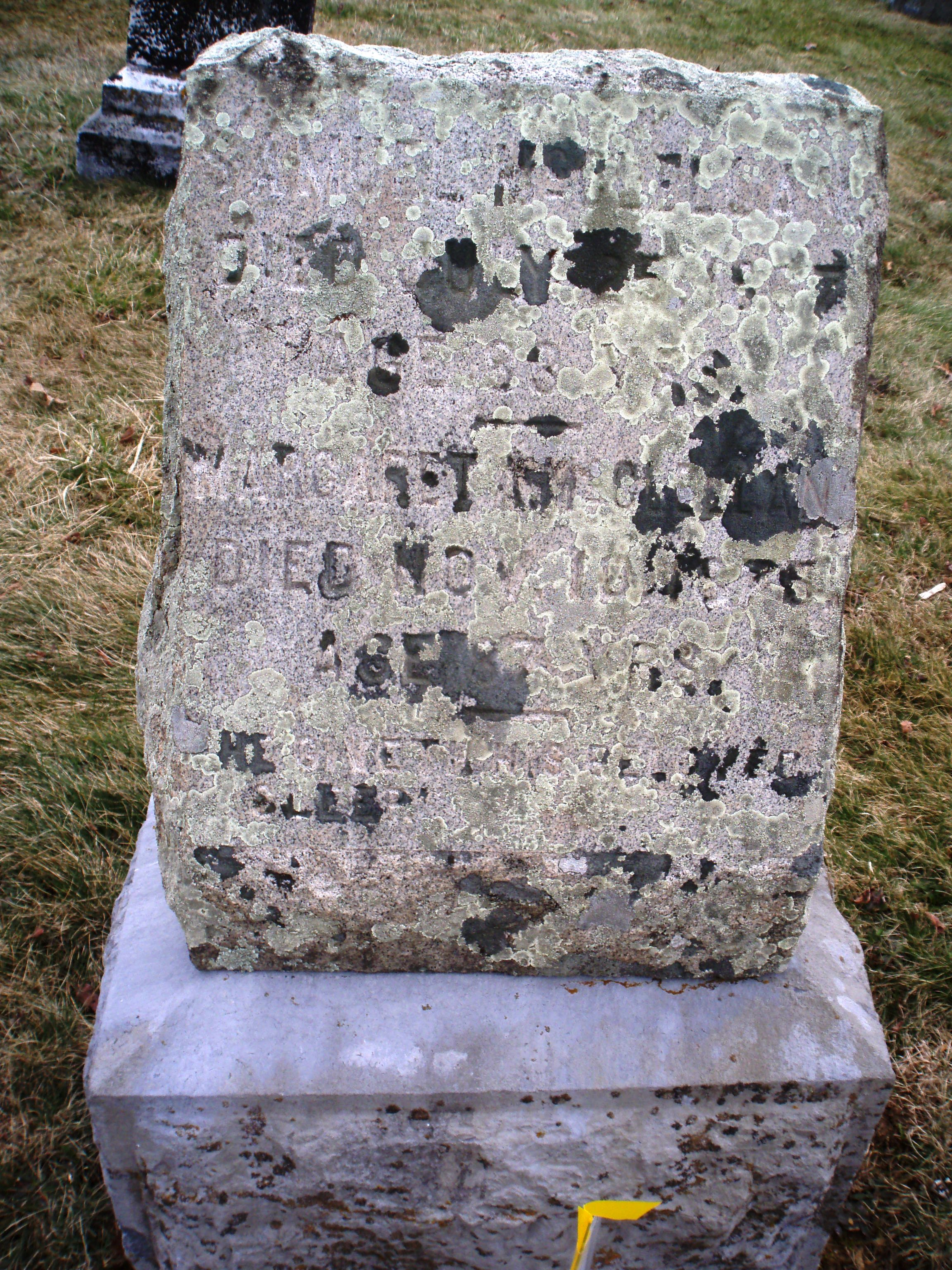 Gravestone of Samuel McClellan