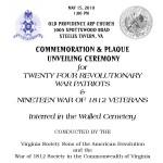 Program for walled cemetery- pg 1