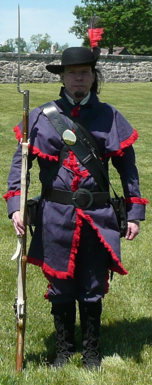 1812 Militia Uniform worn by Paul Bess