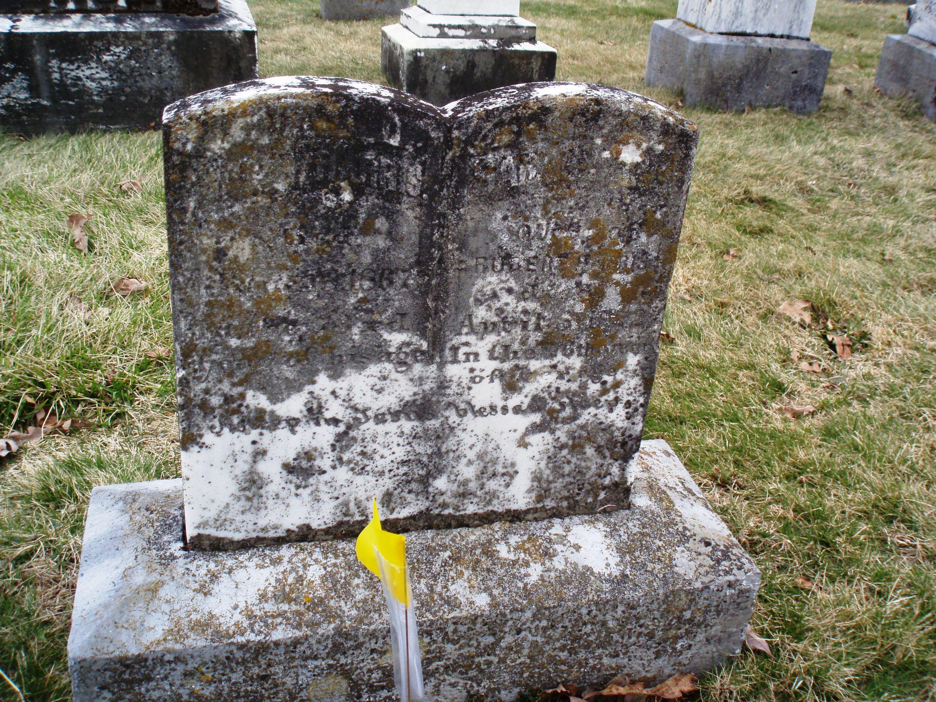 Gravestone of Robert Harris & spouse