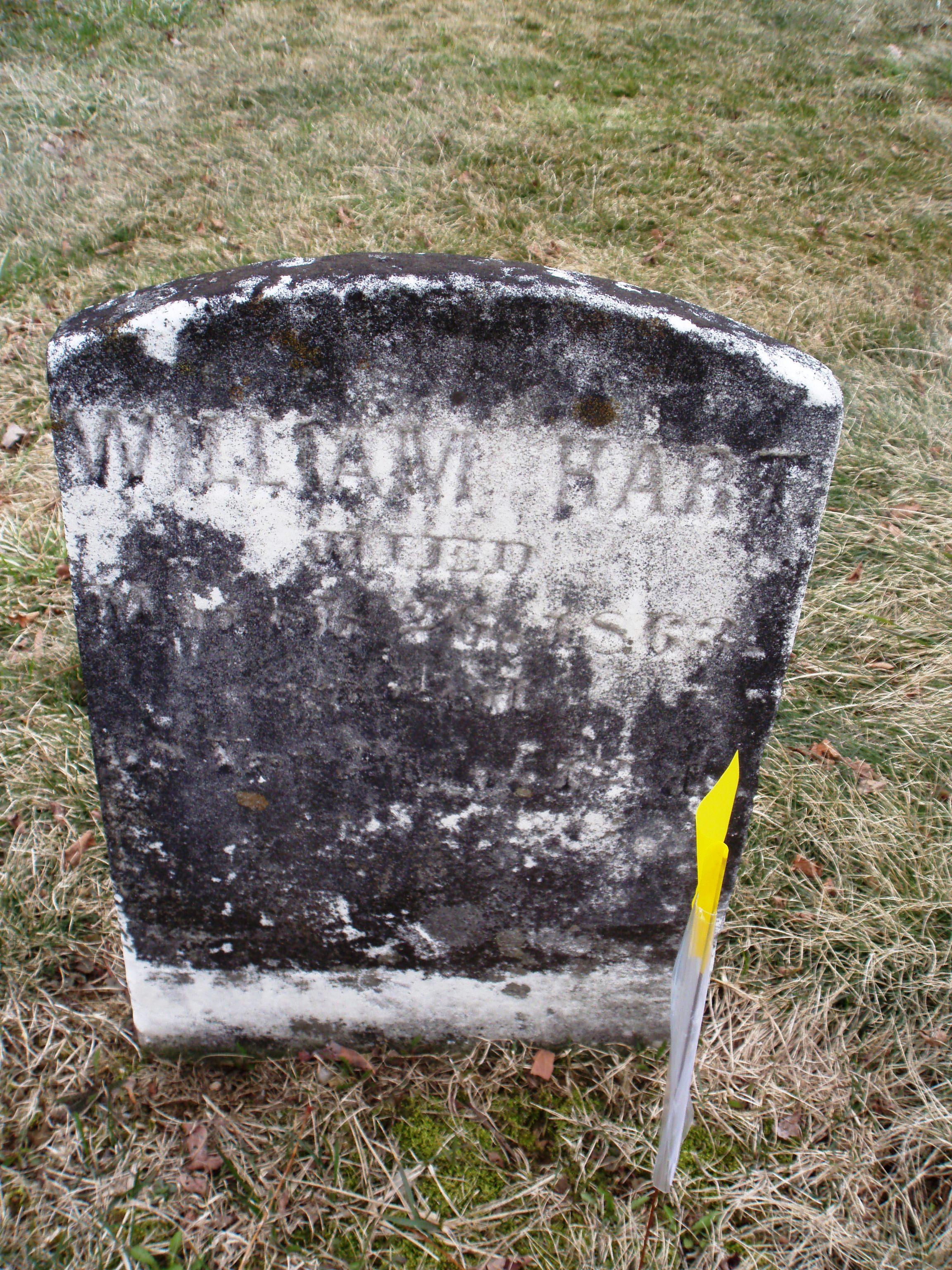 Gravestone of William Hart