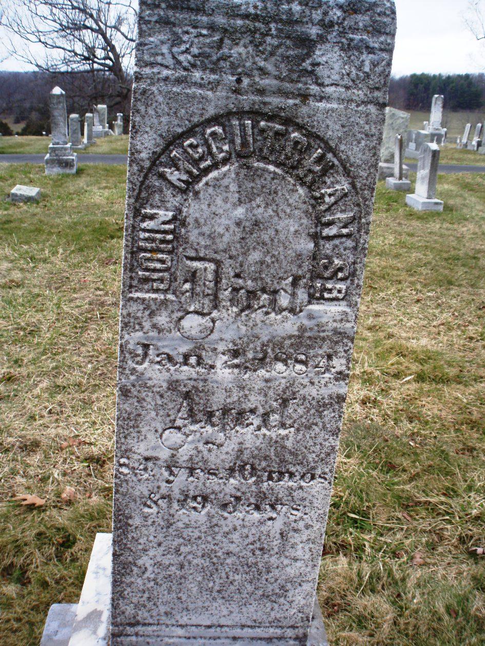Gravestone of John McCutchan, Sr.