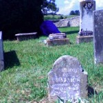 Some gravestones had to be sprayed with shaving cream to be read