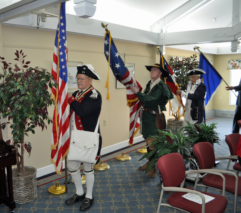 Luncheon has SPB Flag by 1812 Society carried by President Hartman.