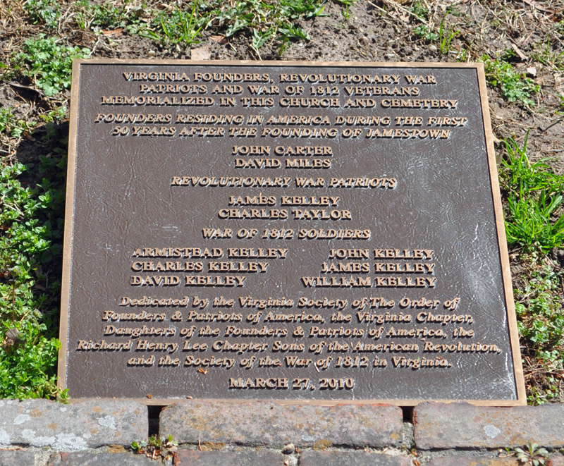 Plaque listing 1812 soldiers with others.