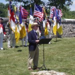 President Hartman, 1812 Society presents remarks