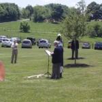 Secretary Williams & Past President Lyman, 1812 Society read ritual