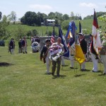 Colonel James Wood SAR Chapter President lays wreath