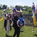 Culpeper Minute Man SAR Chapter President lays wreath