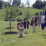 Color Guard escorts wreath presenter