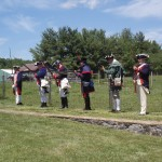 Firing Party fires salute to the buried veterans
