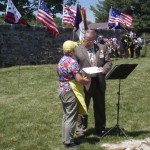 President of VASSAR, Bob Bowen gives certificate to church auxillary