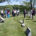 President Hartman presides at upper cemetery ceremony