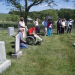 Some attendees at upper cemetery ceremony