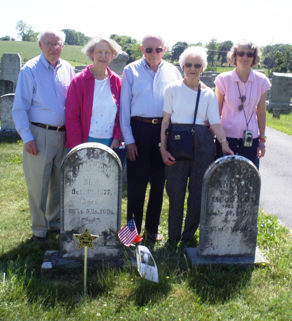Descendants of Jacob Cox & his wife attend ceremony