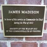 James Madison Plaque-unveiled